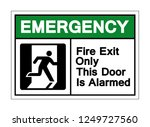 emergency fire exit only this... | Shutterstock .eps vector #1249727560