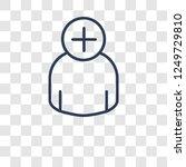 add icon. trendy add logo... | Shutterstock .eps vector #1249729810