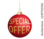 special offer tree red ball... | Shutterstock . vector #1249732336