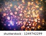 christmas light background....   Shutterstock . vector #1249742299