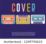 abstract colorful collage...   Shutterstock .eps vector #1249743613