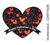 valentine s day card | Shutterstock .eps vector #124974608