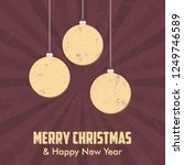 vintage style christmas... | Shutterstock .eps vector #1249746589