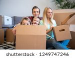 image of young parents and... | Shutterstock . vector #1249747246