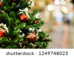 picture of decorated christmas... | Shutterstock . vector #1249748023