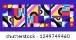 geometric graphic design covers....   Shutterstock .eps vector #1249749460