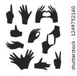 hand gesture black icons... | Shutterstock .eps vector #1249752160