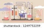 chemistry industry vector... | Shutterstock .eps vector #1249752259