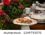 christmas food and ornaments | Shutterstock . vector #1249753570