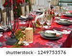 christmas food and ornaments | Shutterstock . vector #1249753576