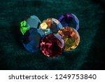 various colorful stones quartz  ... | Shutterstock . vector #1249753840