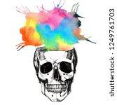 """open minded"" skull like a pot... | Shutterstock . vector #1249761703"