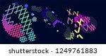 abstract vector background dot... | Shutterstock .eps vector #1249761883