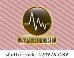 gold shiny emblem with... | Shutterstock .eps vector #1249765189