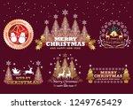set of christmas badges labels  ... | Shutterstock .eps vector #1249765429