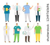 doctors characters. young and... | Shutterstock .eps vector #1249765696