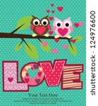 love card design. vector... | Shutterstock .eps vector #124976600
