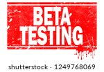 beta testing word in red frame  ... | Shutterstock . vector #1249768069