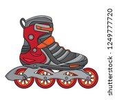 design vector rollerblade shoes ... | Shutterstock .eps vector #1249777720