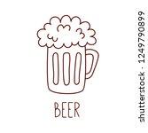 beer mug beverage drink doodle... | Shutterstock .eps vector #1249790899