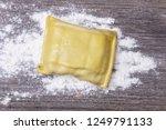 raw swabian maultasche on wood    Shutterstock . vector #1249791133