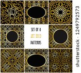 set of 8 beautiful art deco... | Shutterstock .eps vector #1249792573