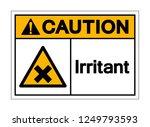 caution irritant symbol sign ... | Shutterstock .eps vector #1249793593