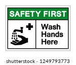 safety first wash hands here... | Shutterstock .eps vector #1249793773