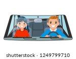 driver vehicle passenger... | Shutterstock .eps vector #1249799710