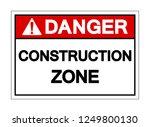 danger construction zone symbol ... | Shutterstock .eps vector #1249800130