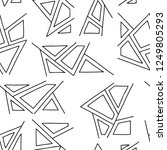 seamless vector pattern  black...   Shutterstock .eps vector #1249805293