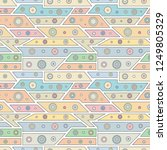 geometric vector seamless...   Shutterstock .eps vector #1249805329