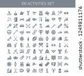 100 activities universal icons... | Shutterstock .eps vector #1249811176