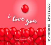 balloons for valentine's day... | Shutterstock .eps vector #1249811320