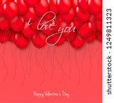 balloons for valentine's day... | Shutterstock .eps vector #1249811323