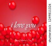 balloons for valentine's day... | Shutterstock .eps vector #1249811326