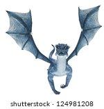 Blue Dragon Flying