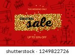christmas and new year vector... | Shutterstock .eps vector #1249822726