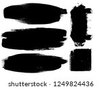 grunge paint stripe . vector... | Shutterstock .eps vector #1249824436