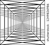 long corridor with transparent...   Shutterstock .eps vector #1249826986