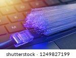 fiber optics in blue  close up...   Shutterstock . vector #1249827199