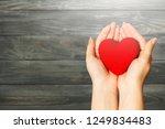 love shape exercise ball on... | Shutterstock . vector #1249834483