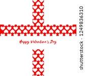 heart pattern for valentine's... | Shutterstock .eps vector #1249836310