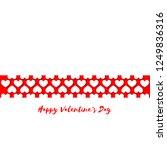heart pattern for valentine's... | Shutterstock .eps vector #1249836316