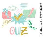 vector quiz isolated logo.... | Shutterstock .eps vector #1249837849