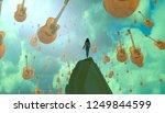 2d illustration. abstract... | Shutterstock . vector #1249844599