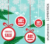 merry christmas sale discount... | Shutterstock .eps vector #1249845826