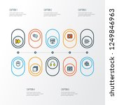 multimedia icons colored line... | Shutterstock .eps vector #1249846963