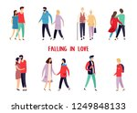 people at dating. set of... | Shutterstock .eps vector #1249848133