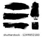 grunge paint stripe . vector... | Shutterstock .eps vector #1249852183